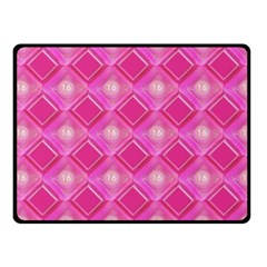 Pink Sweet Number 16 Diamonds Geometric Pattern Fleece Blanket (small) by yoursparklingshop