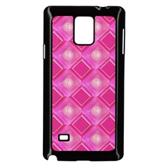 Pink Sweet Number 16 Diamonds Geometric Pattern Samsung Galaxy Note 4 Case (black) by yoursparklingshop