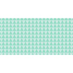 Mint Color Triangle Pattern You Are Invited 3d Greeting Card (8x4) by picsaspassion