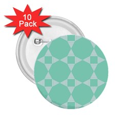 Mint Color Star   Triangle Pattern 2 25  Buttons (10 Pack)  by picsaspassion