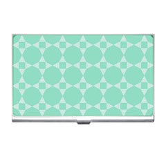 Mint Color Star   Triangle Pattern Business Card Holders by picsaspassion