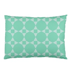 Mint Color Star   Triangle Pattern Pillow Case by picsaspassion