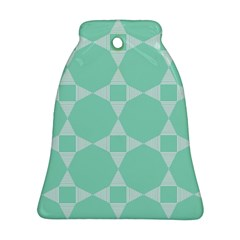 Mint Color Star   Triangle Pattern Bell Ornament (2 Sides) by picsaspassion
