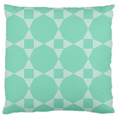 Mint Color Star   Triangle Pattern Large Cushion Case (one Side) by picsaspassion