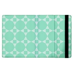 Mint Color Star   Triangle Pattern Apple Ipad 2 Flip Case by picsaspassion