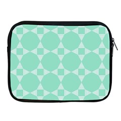Mint Color Star   Triangle Pattern Apple Ipad 2/3/4 Zipper Cases by picsaspassion