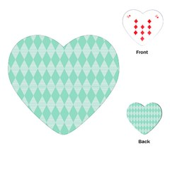 Mint Color Diamond Shape Pattern Playing Cards (heart)  by picsaspassion