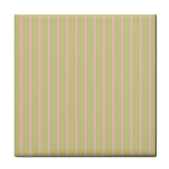 Summer sand color pink stripes Tile Coasters by picsaspassion