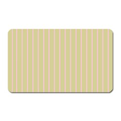 Summer Sand Color Pink Stripes Magnet (rectangular) by picsaspassion