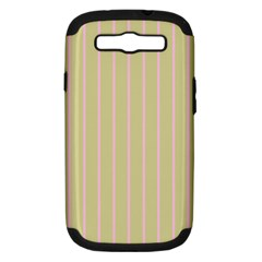 Summer Sand Color Pink Stripes Samsung Galaxy S Iii Hardshell Case (pc+silicone) by picsaspassion