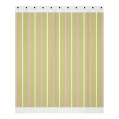 Summer Sand Color Pink And Yellow Stripes Shower Curtain 60  X 72  (medium) by picsaspassion