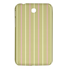 Summer Sand Color Pink And Yellow Stripes Samsung Galaxy Tab 3 (7 ) P3200 Hardshell Case  by picsaspassion