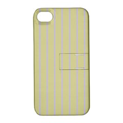 Summer Sand Color Lilac Stripes Apple Iphone 4/4s Hardshell Case With Stand by picsaspassion