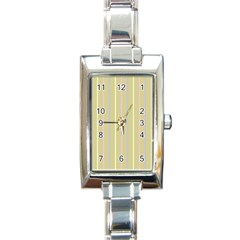 Summer Sand Color Lilac Pink Yellow Stripes Pattern Rectangle Italian Charm Watch by picsaspassion