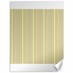 Summer Sand Color Lilac Pink Yellow Stripes Pattern Canvas 36  X 48   by picsaspassion