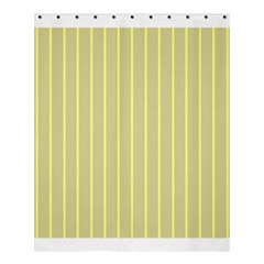 Summer Sand Color Yellow Stripes Pattern Shower Curtain 60  X 72  (medium)  by picsaspassion
