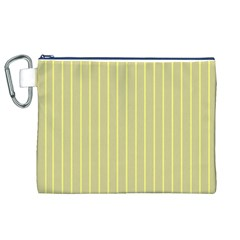 Summer Sand Color Yellow Stripes Pattern Canvas Cosmetic Bag (xl) by picsaspassion