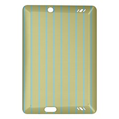 Summer Sand Color Blue Stripes Pattern Amazon Kindle Fire Hd (2013) Hardshell Case by picsaspassion