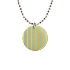 Summer Sand Color Blue And Yellow Stripes Pattern Button Necklaces by picsaspassion