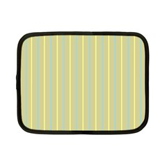 Summer Sand Color Blue And Yellow Stripes Pattern Netbook Case (small)  by picsaspassion