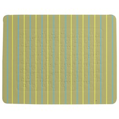 Summer Sand Color Blue And Yellow Stripes Pattern Jigsaw Puzzle Photo Stand (rectangular) by picsaspassion