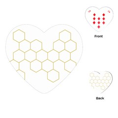 Honeycomb Pattern Graphic Design Playing Cards (heart) by picsaspassion
