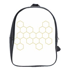 Honeycomb Pattern Graphic Design School Bag (xl) by picsaspassion
