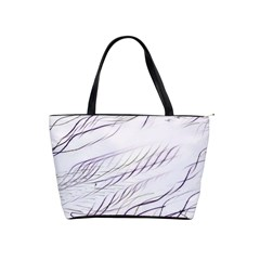 Lilac Stripes Shoulder Handbags by picsaspassion