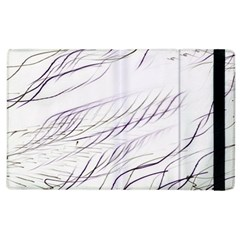 Lilac Stripes Apple Ipad 2 Flip Case by picsaspassion