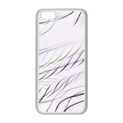 Lilac Stripes Apple Iphone 5c Seamless Case (white) by picsaspassion