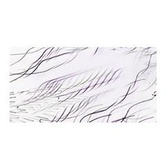 Lilac Stripes Satin Wrap by picsaspassion