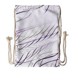 Lilac Stripes Drawstring Bag (large) by picsaspassion