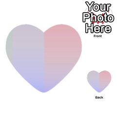 Colorful Colors Multi Purpose Cards (heart)  by picsaspassion