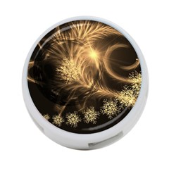 Golden Feather And Ball Decoration 4 Port Usb Hub (one Side) by picsaspassion