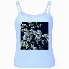 Japanese cherry blossom Baby Blue Spaghetti Tank by picsaspassion