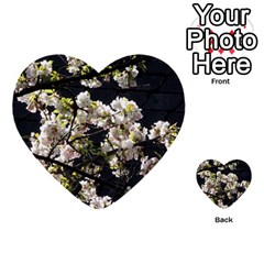 Japanese Cherry Blossom Multi Purpose Cards (heart)  by picsaspassion