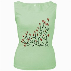 Elegant tree Women s Green Tank Top by Valentinaart