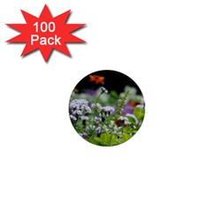 Wild Flowers 1  Mini Buttons (100 Pack)  by picsaspassion