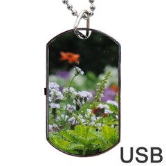 Wild Flowers Dog Tag Usb Flash (two Sides)  by picsaspassion