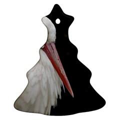Stork bird Christmas Tree Ornament (2 Sides) by picsaspassion