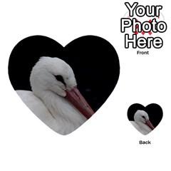 Wild Stork Bird Multi Purpose Cards (heart)  by picsaspassion