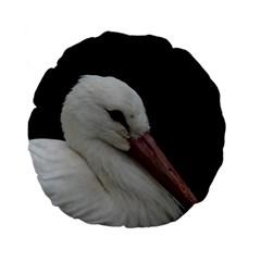 Wild Stork bird Standard 15  Premium Flano Round Cushions by picsaspassion