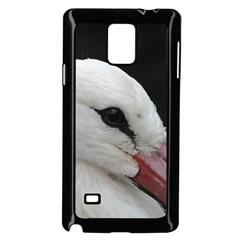 Wild Stork Bird, Close Up Samsung Galaxy Note 4 Case (black) by picsaspassion