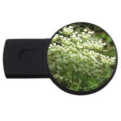 White Summer Flowers Usb Flash Drive Round (4 Gb)  by picsaspassion