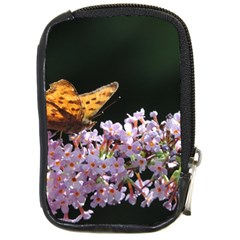 Butterfly Sitting On Flowers Compact Camera Cases by picsaspassion