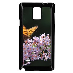 Butterfly Sitting On Flowers Samsung Galaxy Note 4 Case (black) by picsaspassion