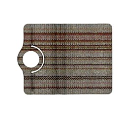 Stripy Knitted Wool Fabric Texture Kindle Fire HD (2013) Flip 360 Case by Zeze