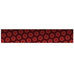 Ombre Black And Red Passion Floral Pattern Flano Scarf (large) by DanaeStudio