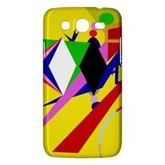 Yellow Abstraction Samsung Galaxy Mega 5 8 I9152 Hardshell Case  by Valentinaart