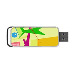 Colorful Abstract Art Portable Usb Flash (one Side) by Valentinaart